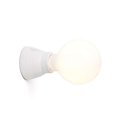 Kera Lampa de perete Alb 1L E27 1