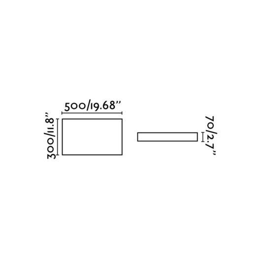 Silk-1 Led Alb plafoniera 2