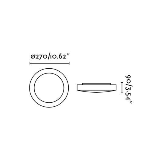 Logos-1 Gri plafoniera 1 X E27 20W 2
