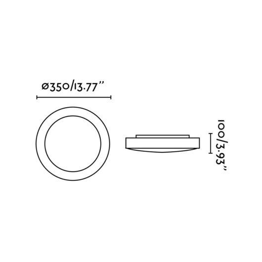 Logos-2 Gri plafoniera 2 X E27 20W 2