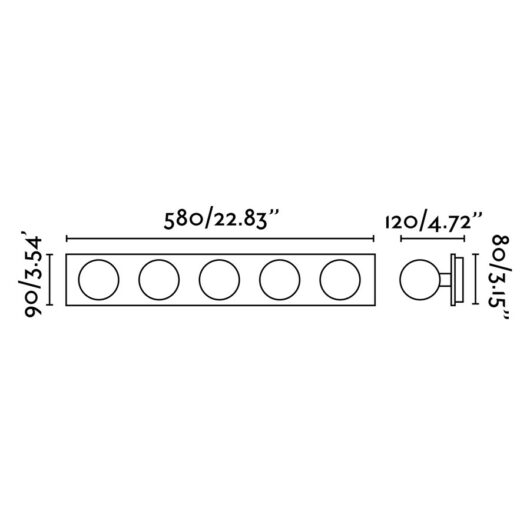 Lass Chrome Lampa de perete 5 X G9 25W 2