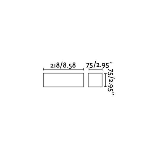 Eaco-1 Alb Lampa de perete 1 X G9 40W 2
