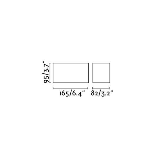 Tecto Negru plafoniera 2 X GU10 50W 2