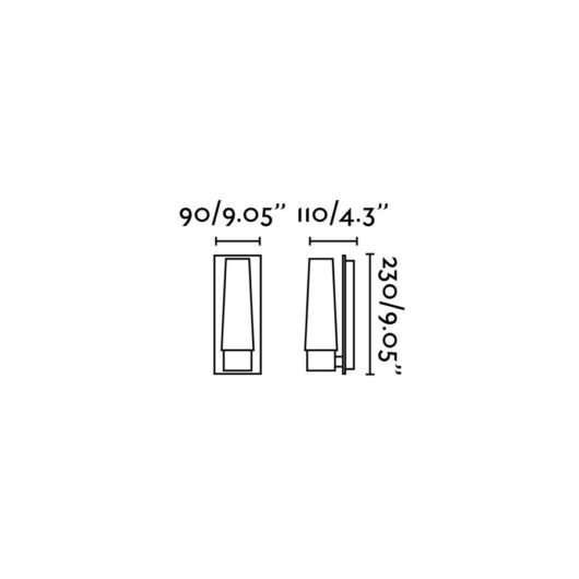 Doka-1 Chrome Lampa de perete 1 X E14 40W 2