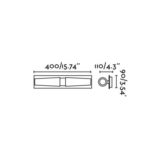 Doka-2 Chrome Lampa de perete 2 X E14 40W 2