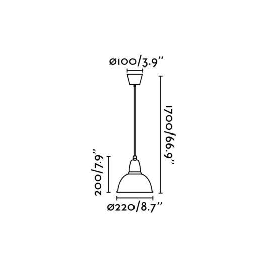 Aluminio-P Aluminium candelabru 1 X E27 75W 2