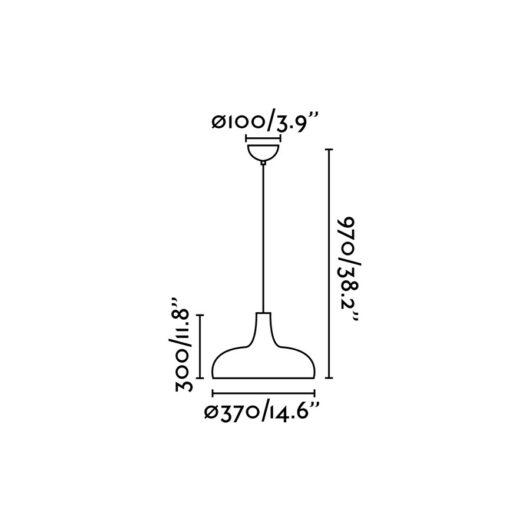 Bongo Aluminium candelabru 1 X E27 60W 2