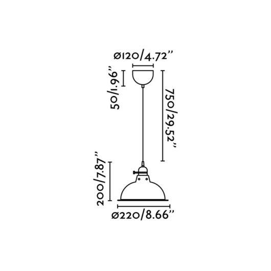 Pepper Hanging Lamp Negru E27 40W 2