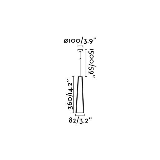 Pluma Alb/Alb candelabru Led 6W 3000K 2