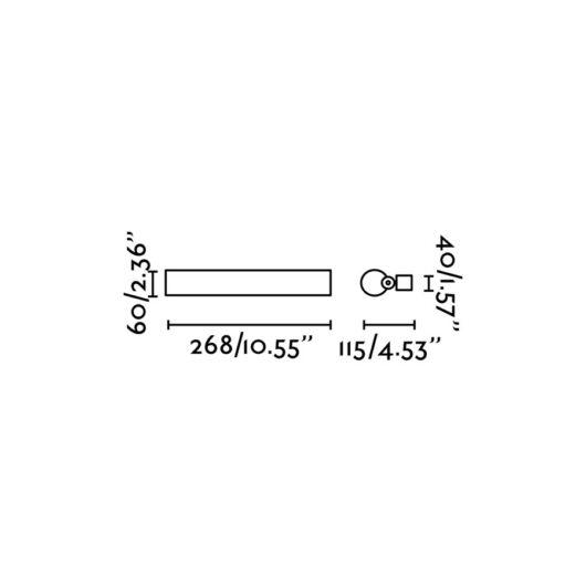Siret-1 Chrome Lampa de perete Led 8W 2700K 2