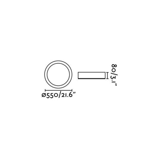 Cocotte-L Negru Led plafoniera 36W 3000K 2