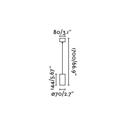 Nan Alb candelabru GU10 50W 2
