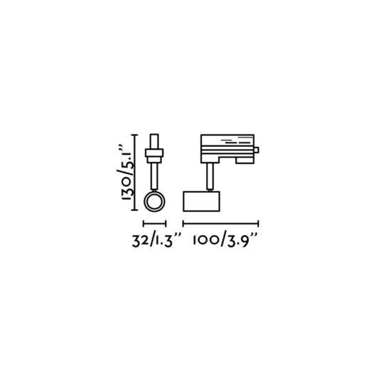 Plot Negru proiector pe sina GU10 2