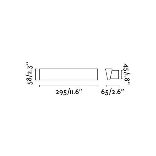 Conik Led Alb Lampa de perete Led 8W 3000K 800Lm 2