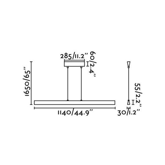 Conik Led Aluminium candelabru Led 32W 3000K 256 2