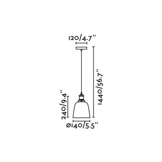 Liz-2 Transparent candelabru 1 X E27 60W 2