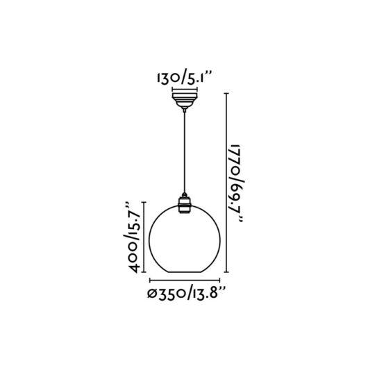 Erma Transparent plafoniera 1Xe27 100W 2