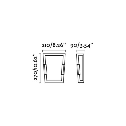 Twin-3 Matt Nickel Lampa de perete 2 X E14 60W 2