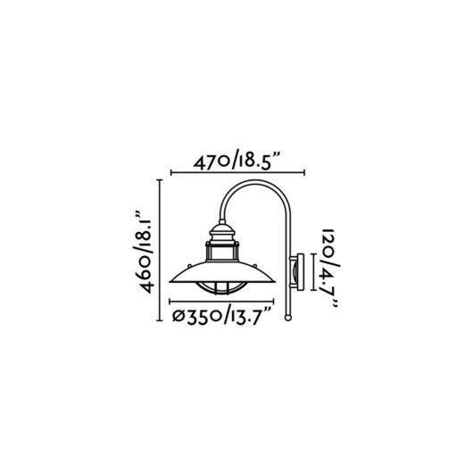 Winch maro Lampa de perete 1 X E27 60W 2
