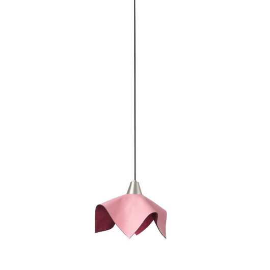 Fauna Pink Leather Pendant Led 5W 3000K 1