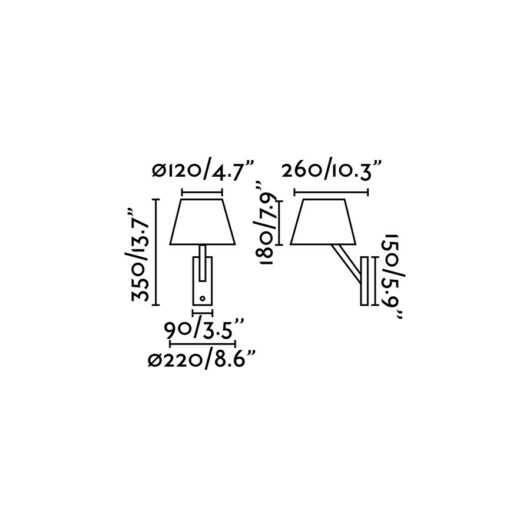 Moma-1 Negru Lampa de perete 1 X E27 60W 2