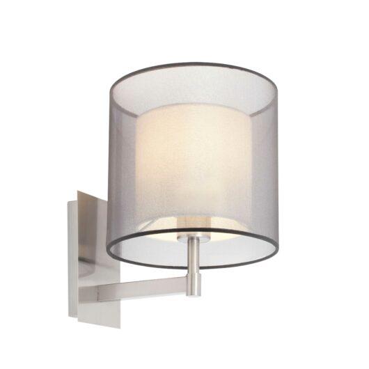 Saba Nickel Matt Lampa de perete 1 X E27 40W 1