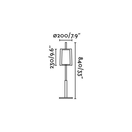 Saba Nickel Matt veioza 1 X E27 40W H84 2