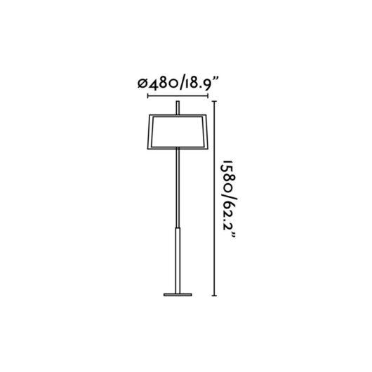 Saba Nickel Matt Lampadar 1 X E27 60W 2