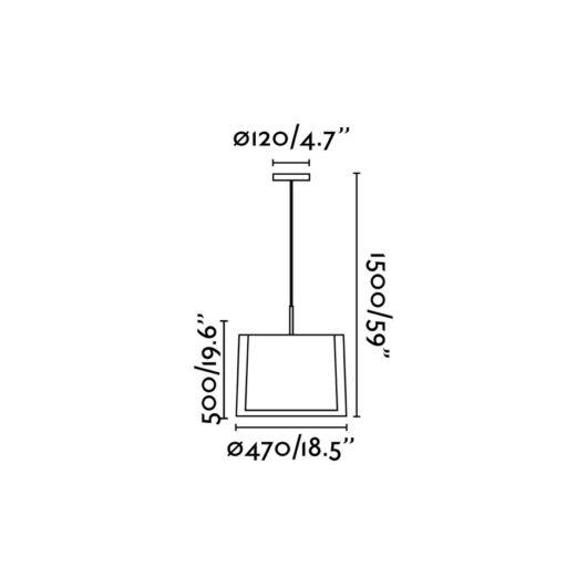 Saba Nickel Matt Pendant 3 X E27 40W 2