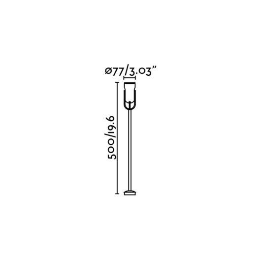 Slot-2 Proiector W/Arm Negru 14W 3000K 2