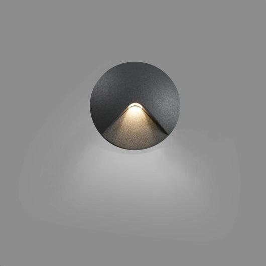 Uve Led Dark Gri Recessed Lamp  Led 2W 3000K C 1
