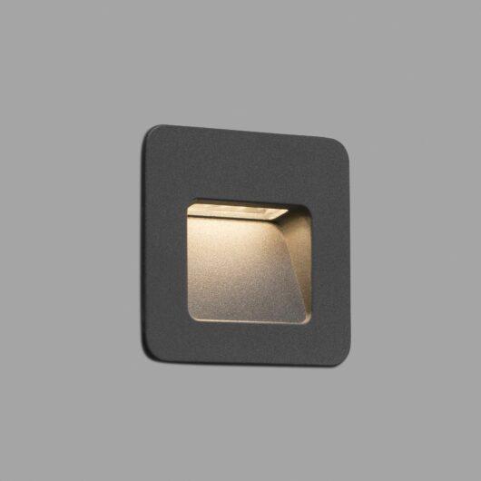Nase-1 Led Dark Gri Recessed Lamp Led 4W 3000K Cr 1
