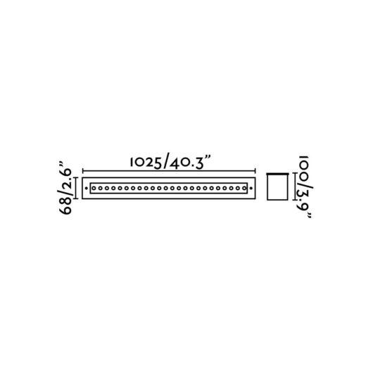 Grava Led Inox Recessed Lamp 42W 2