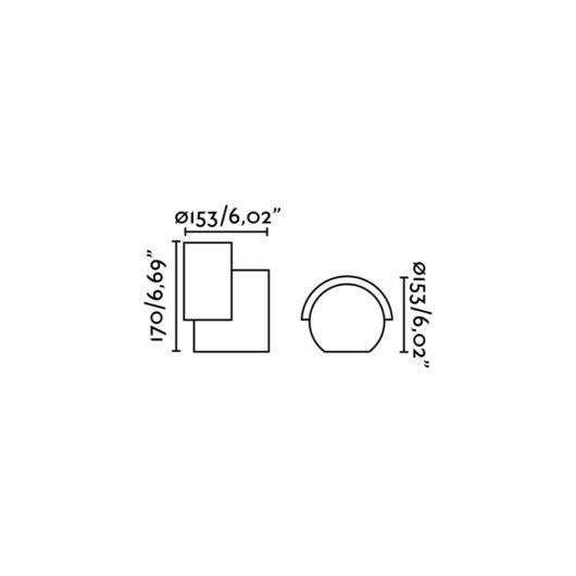 Noboru Proiector/Washer Dark Gri Led 16W 3000K 2