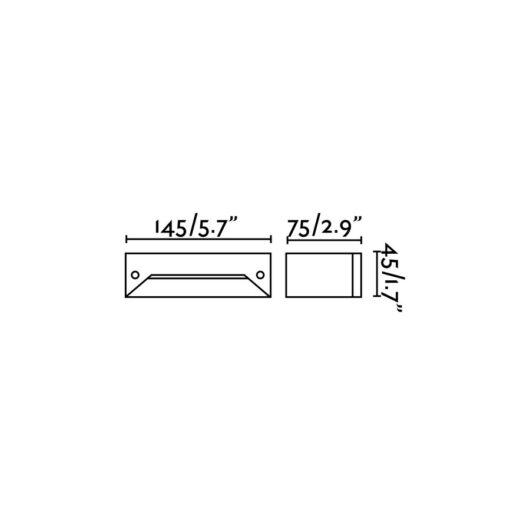 Indi-2 Dark Gri Recessed 12 Led 0.08W/Led 48 Xm 6 2