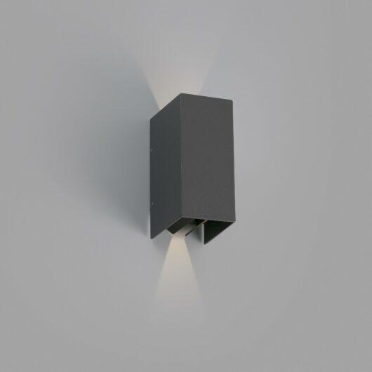 Blind Dark Gri Lampa de perete Led 2X3W 3000K 1