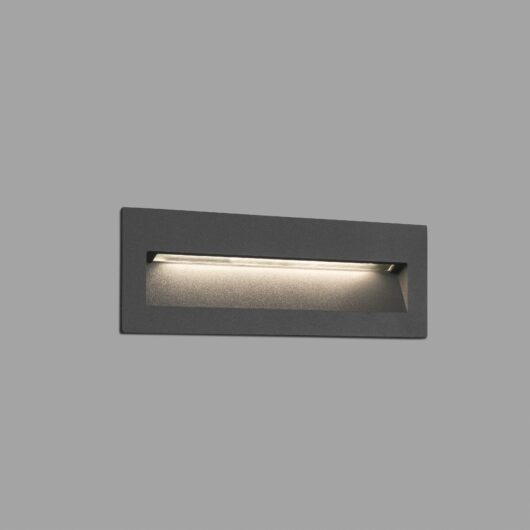 Nat Led Dark Gri Recessed Lamp 1