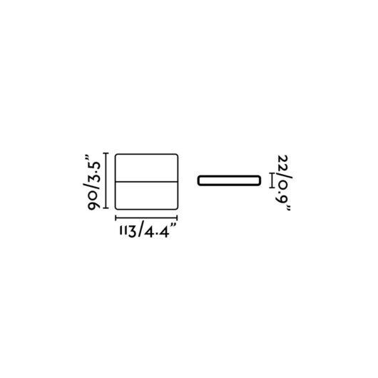 Aday-1 Led Dark Gri Lampa de perete 2 Led 3W 3000K 450L 2