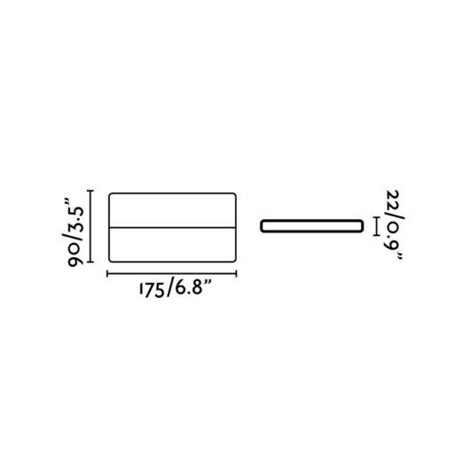 Aday-2 Led Dark Gri Lampa de perete 2 Led 6W 3000K 950L 2