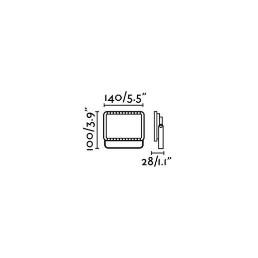 Flux Led Dark Gri Proiector Lamp  Led 10W 3000 2