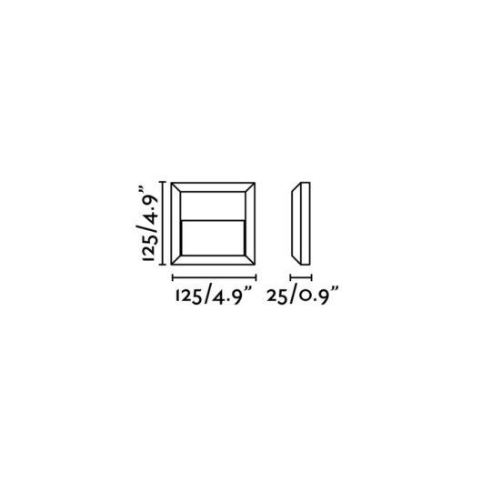 Grant-C Dark Gri Lampa de perete Led 3000K 2