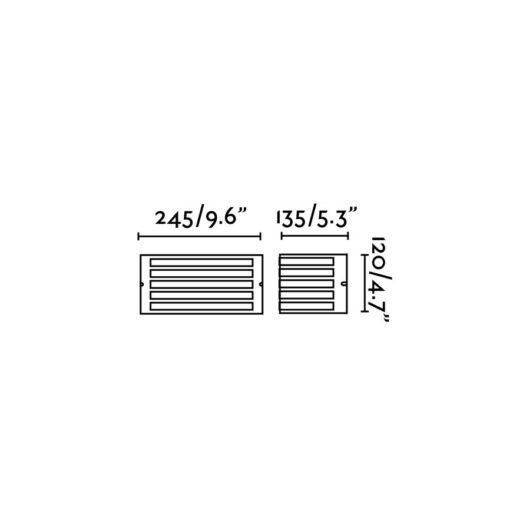 Fedon Matt Nickel Lampa de perete 1 X E27 60W 2