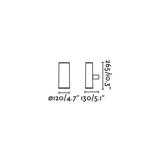 Piston Gri Lampa de perete 2 X GU10 50W 2
