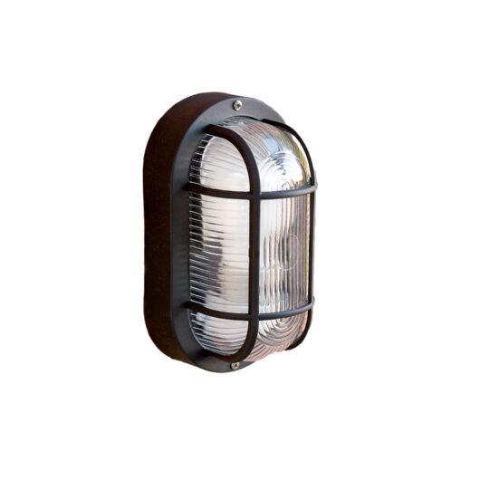 Ovalo-N Negru Lampa de perete Closed 18 1 X E27 60W 1