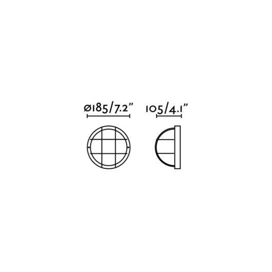 Rondo-N Negru Lampa de perete 1 X E27 60W 2