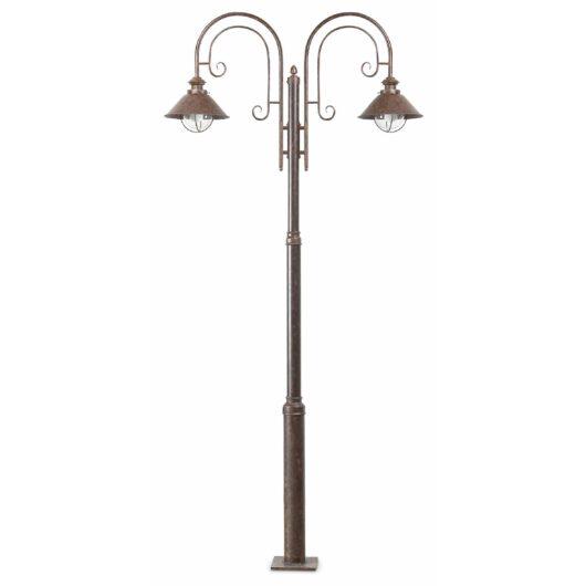 Nautica Rust Pole Lamp 2 X E27 11W 1