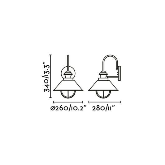 Nautica-P Rust Lampa de perete 1 X E27 12W 2