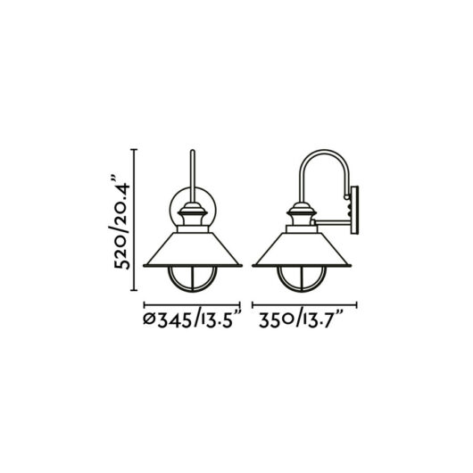 Nautica-G Rust Lampa de perete 1 X E27 11W 1