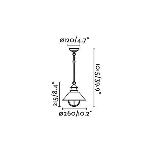 Nautica-1P Rust Pendant 1 X E27 11W 2