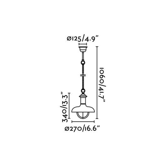 Estoril-P Rust Pendant 1 X E27 60W 2